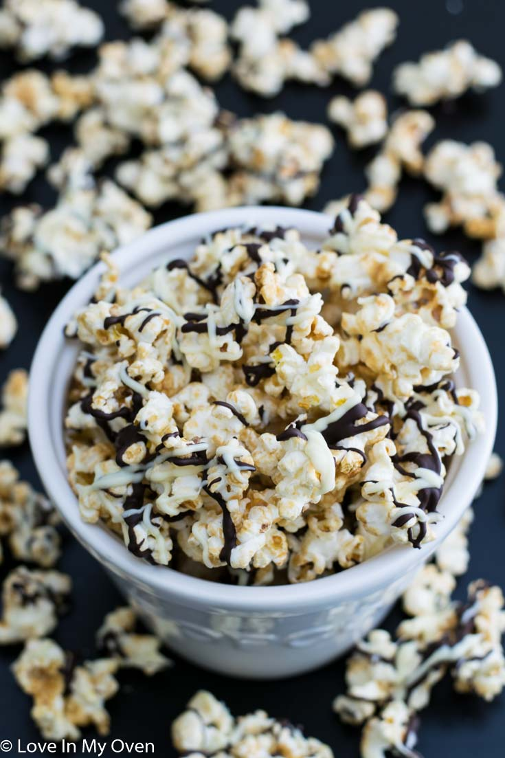 Domino Popcorn! Sweet and salty come together to create this crunchy, addictive, any-time-of-day-or-night popcorn