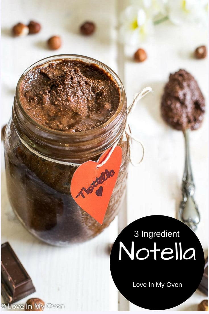 Creamy, smooth and chocolatey, you'll never go back to store-bought Nutella after trying this homemade version!