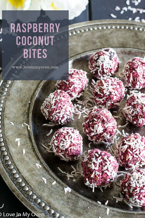 raspberry coconut bites