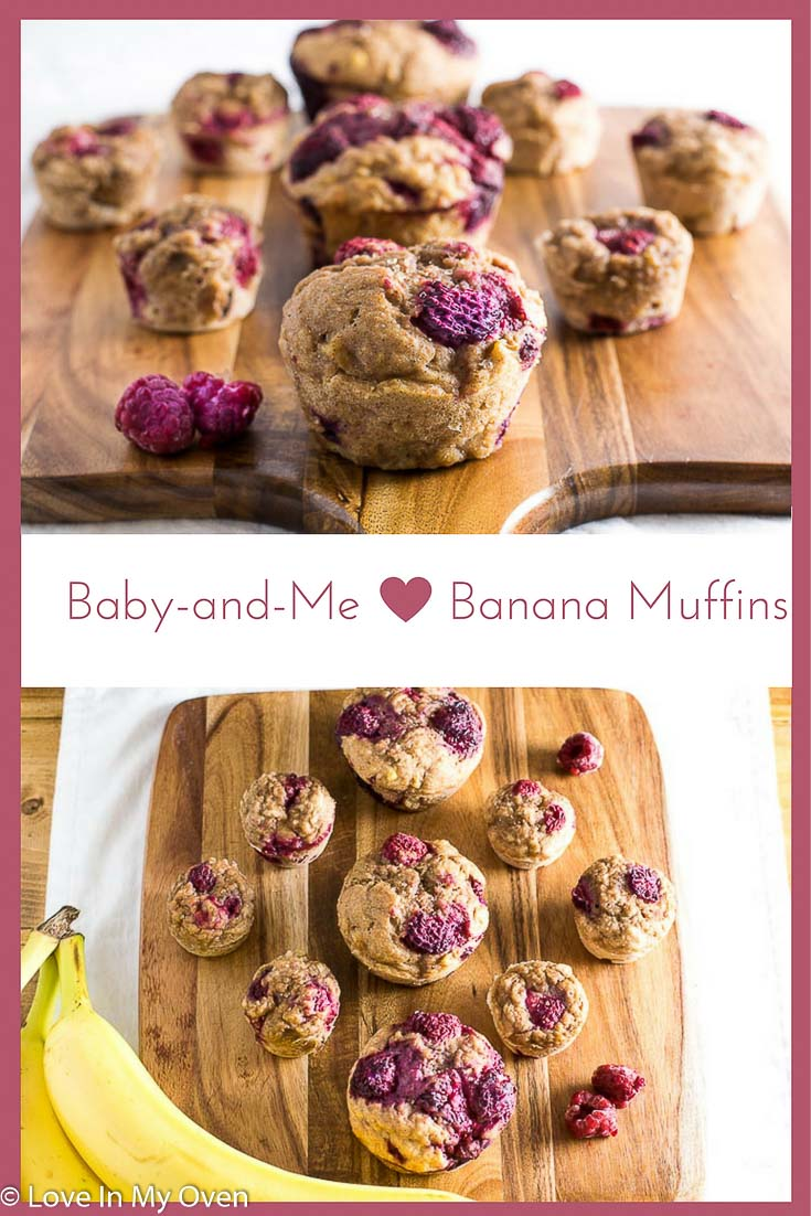 100% naturally sweetened banana muffins. Make them mini for your wee ones' breakfast or snack, or make them bigger for you!
