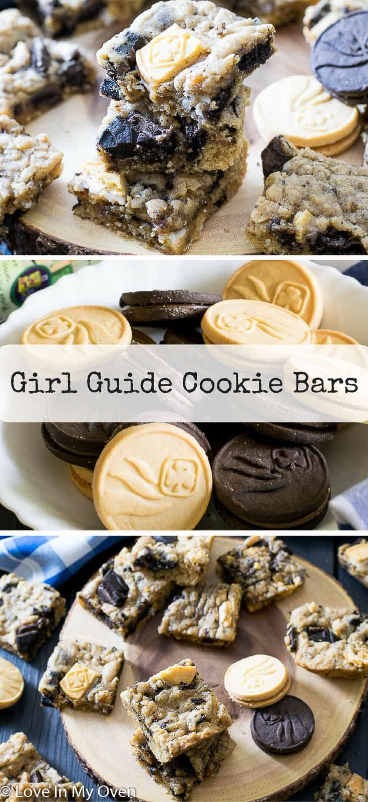 Soft and chewy cookie bars studded with your favorite chocolate and vanilla Girl Guide cookies!
