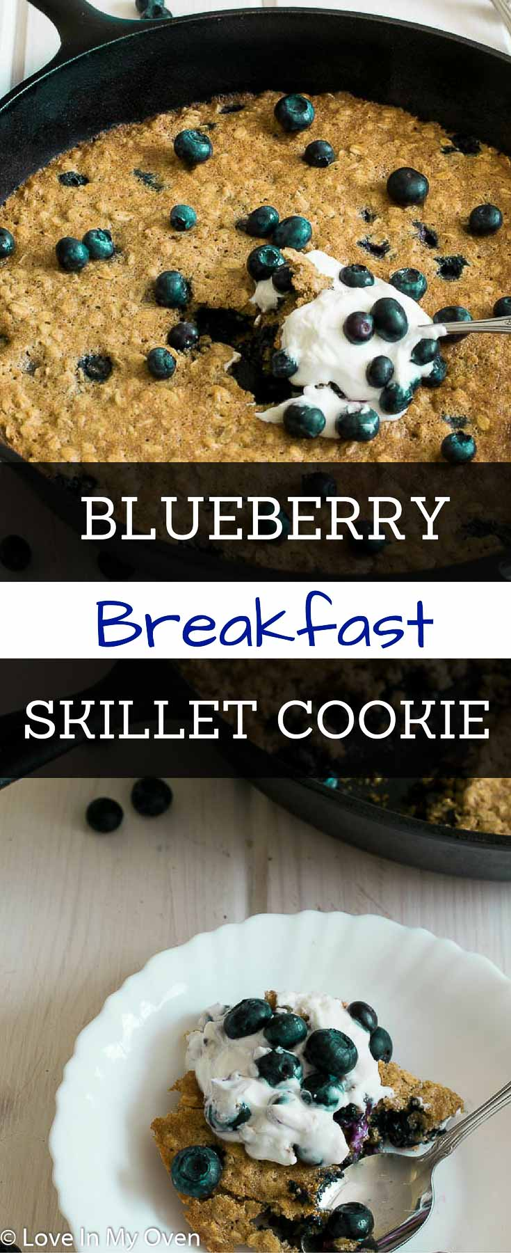 Feed your inner kid with this giant skillet cookie for breakfast. Free of refined sugars and unhealthy fats, this skillet cookie is almost too good to be true!