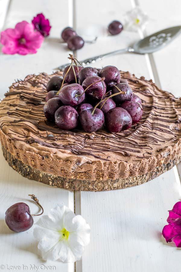 No-Bake Chocolate Cherry Tart