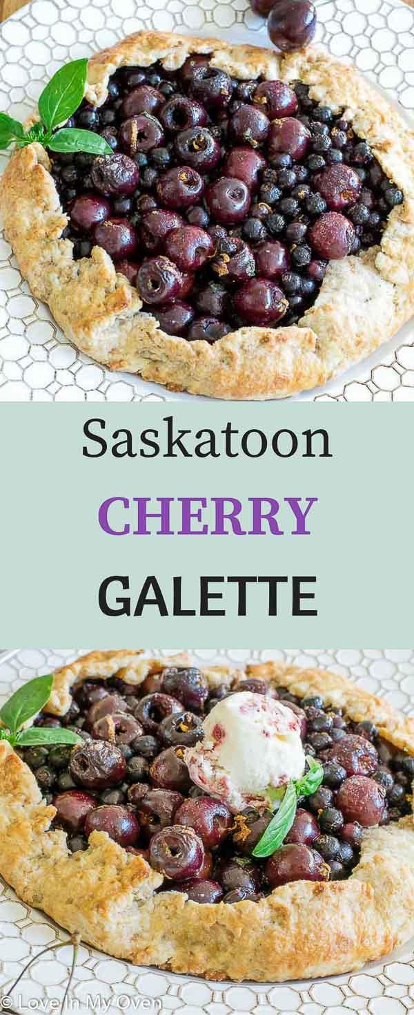 saskatoon cherry galette