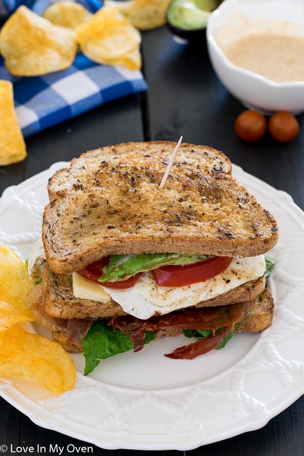 crispy prosciutto sandwich