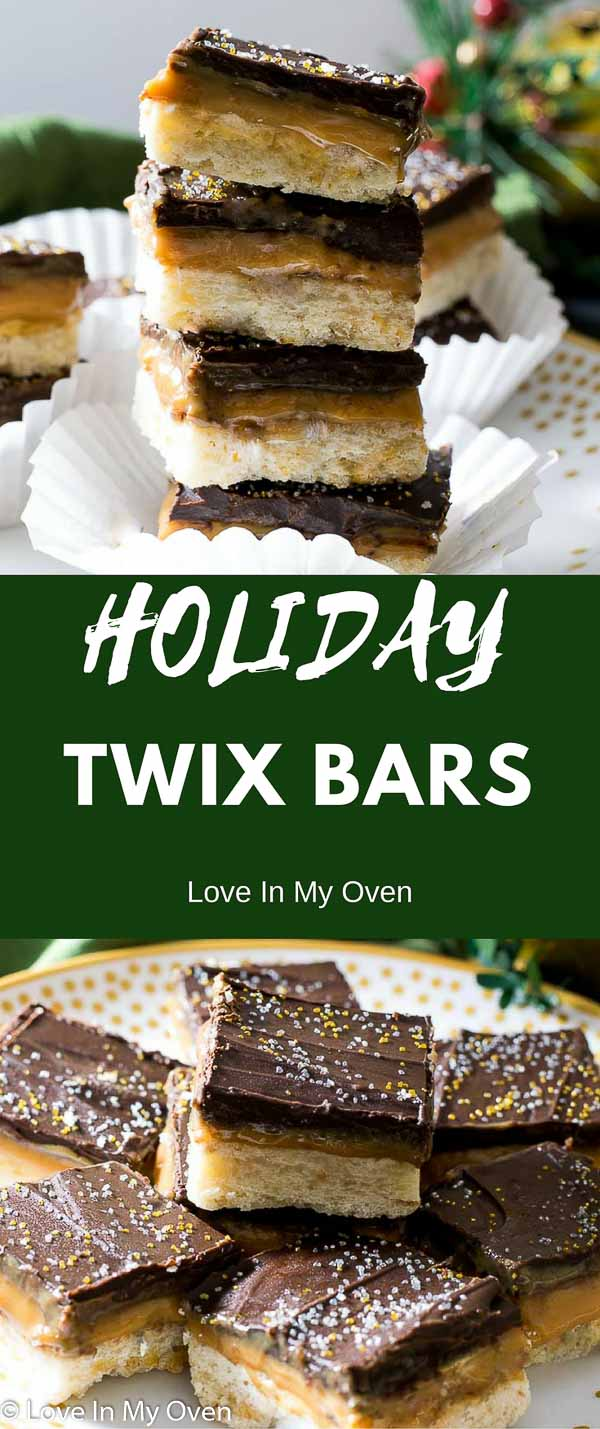 holiday twix bars