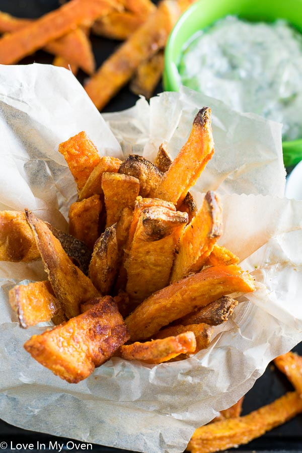 Sweet Potato Fries with Dill Dip