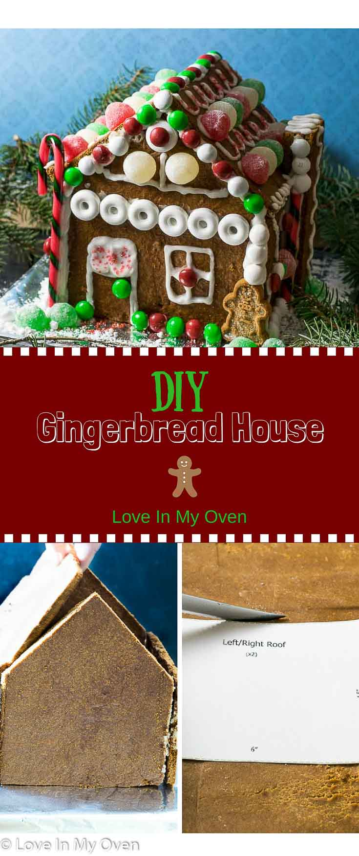 DIY, Christmas, holiday baking, gingerbread house, crafts, crafts with kids, easy craft, holiday crafts, gingerbread, dessert, display, decorating