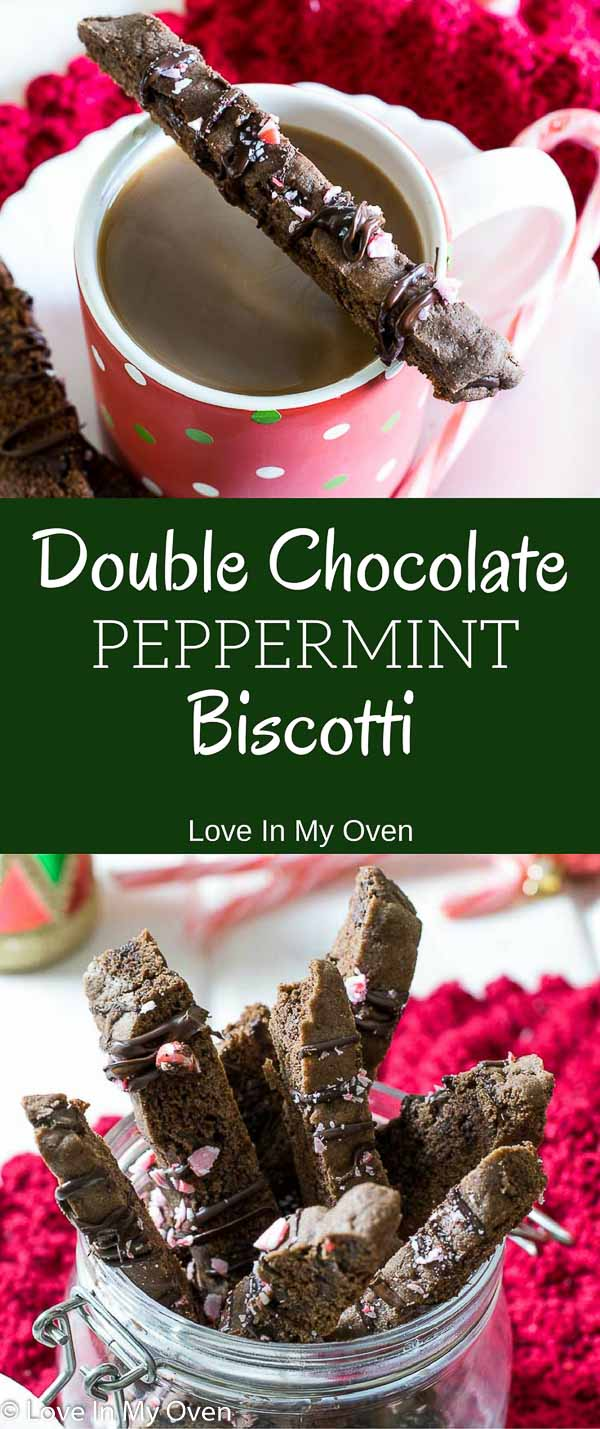 double chocolate peppermint biscotti