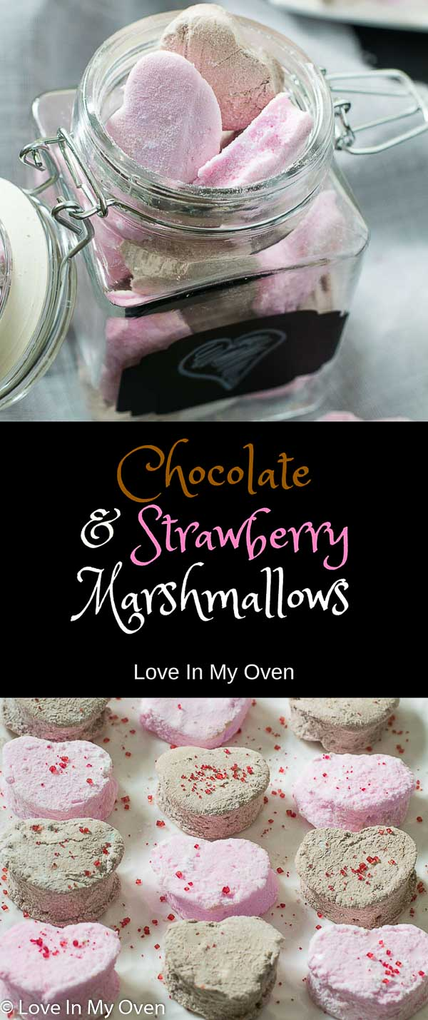 chocolate and strawberry marshmallows