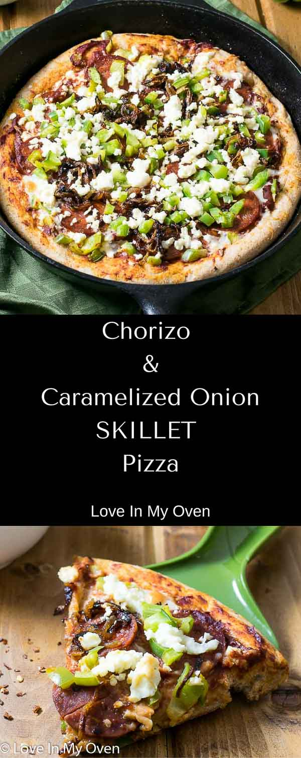 Chorizo and Caramelized Onion Skillet Pizza