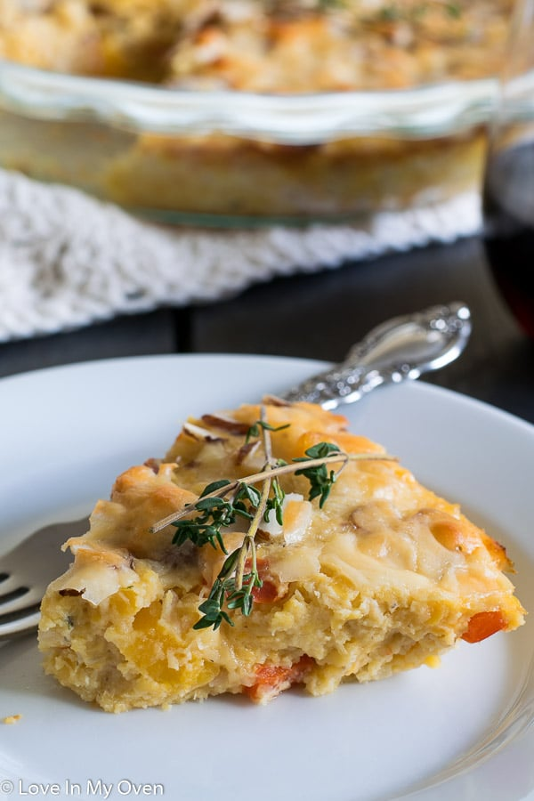 cheesy lentil bake