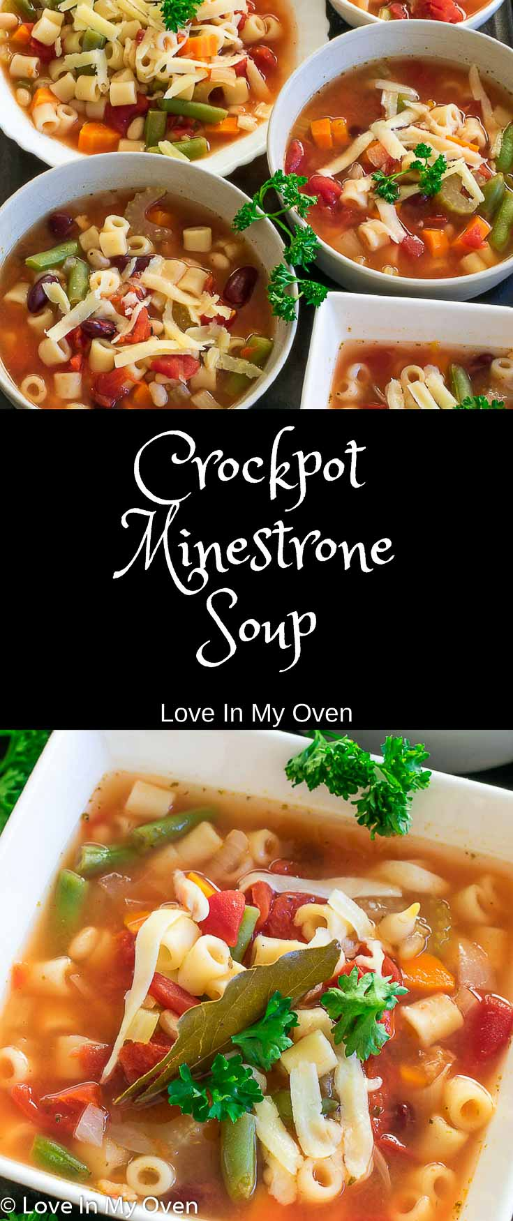 Skip the can and try this super easy dump-and-go slow-cooker minestrone soup that is loaded with hearty, fiber-rich vegetables - it tastes amazing! Perfect for meatless Monday!