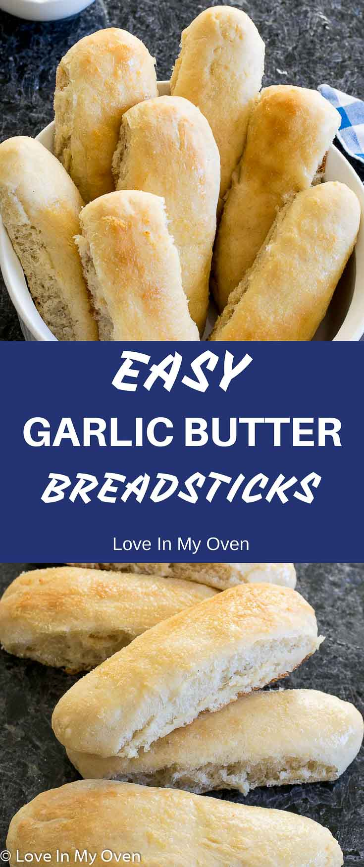 Soft, pillowy, garlic butter breadsticks that can be yours in just over an hour! Completely from scratch and COMPLETELY delicious!