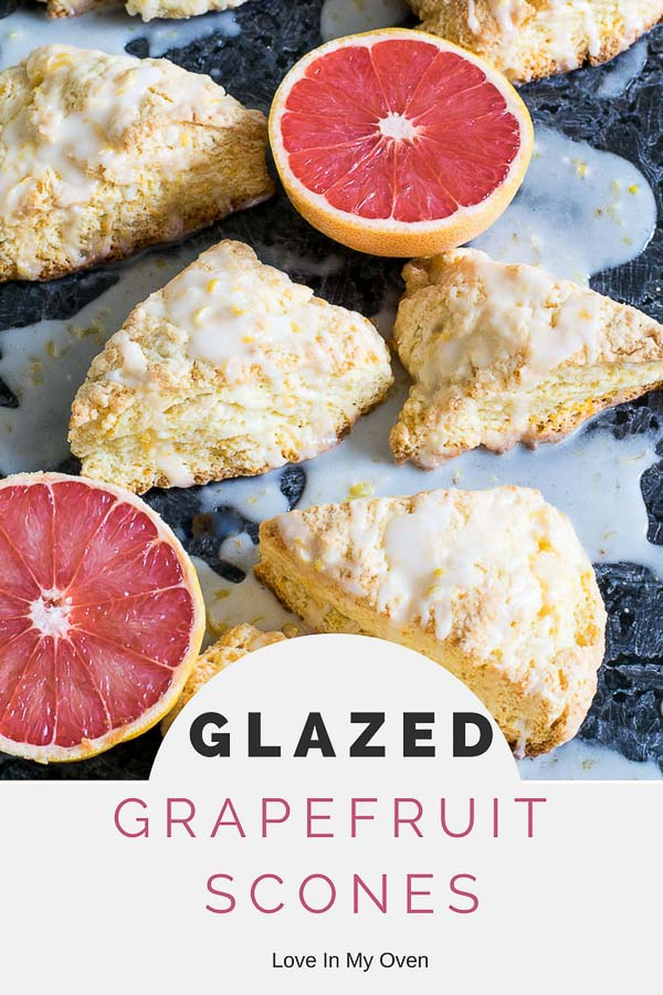 glazed grapefruit scones