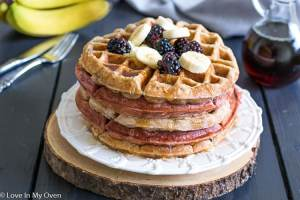 Baby and Me Banana Waffles