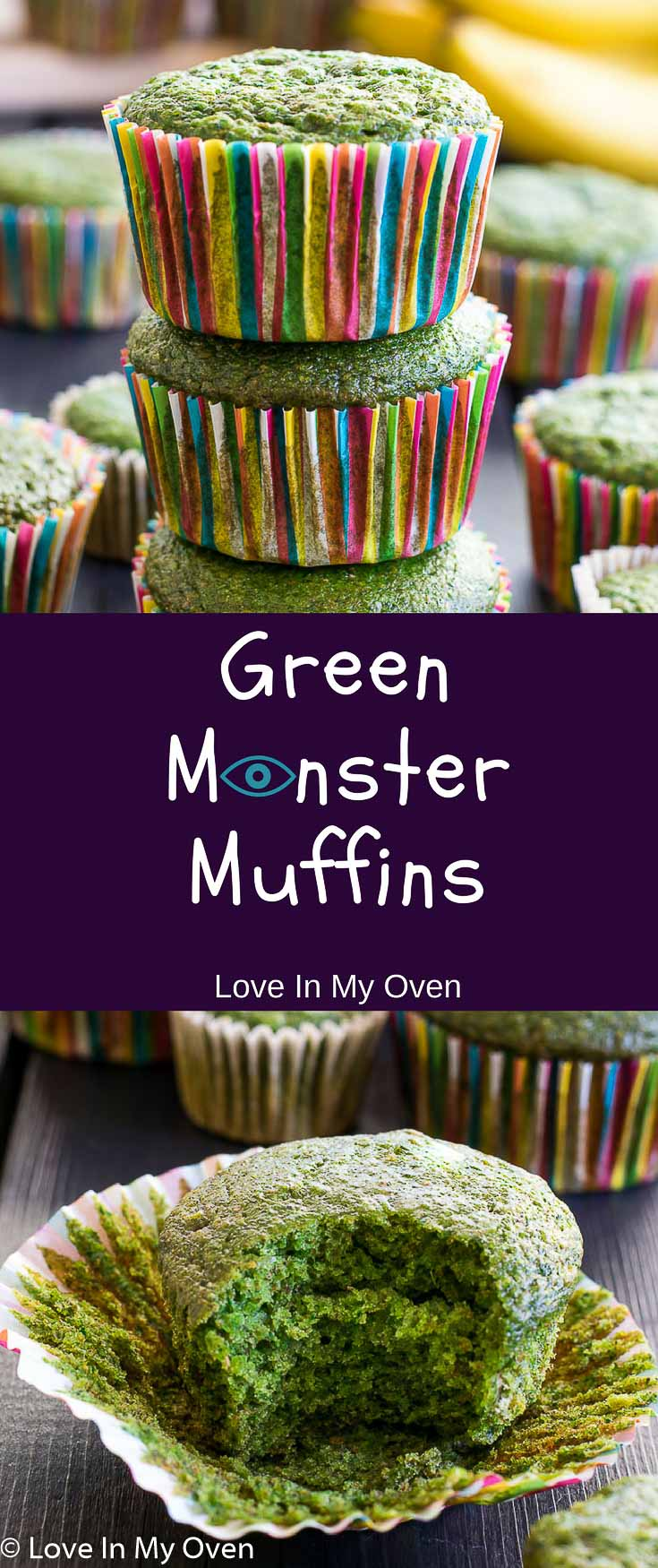 Sneak some spinach into your family's diet in the form of a vibrantly green, fluffy muffin sweetened with natural sugars and full of healthy ingredients.