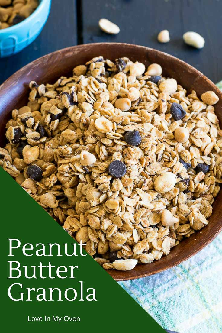 Homemade is always better! Try this easy and delicious granola recipe with all natural peanut butter, coconut oil and maple syrup. Perfect for breakfast, or an any-time snack!