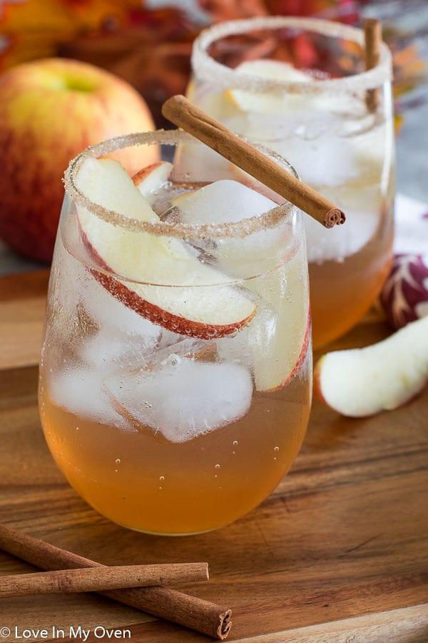 Apple Cinnamon Gin Fizz