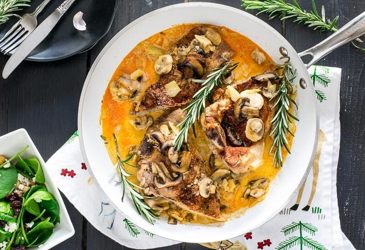 One Pan Pork and Mushrooms