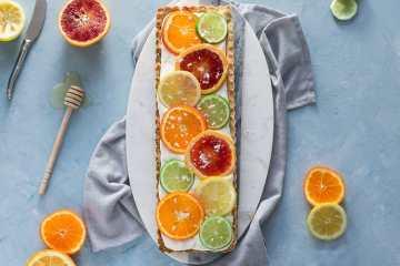 sunny citrus tart