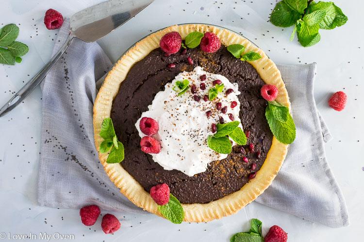 Grain-Free Chocolate Chia Pudding Pie