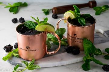 Blackberry-Mint Moscow Mules