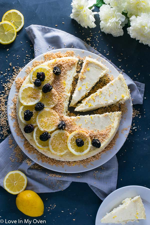 Keto Coconut Lemon Cheesecake
