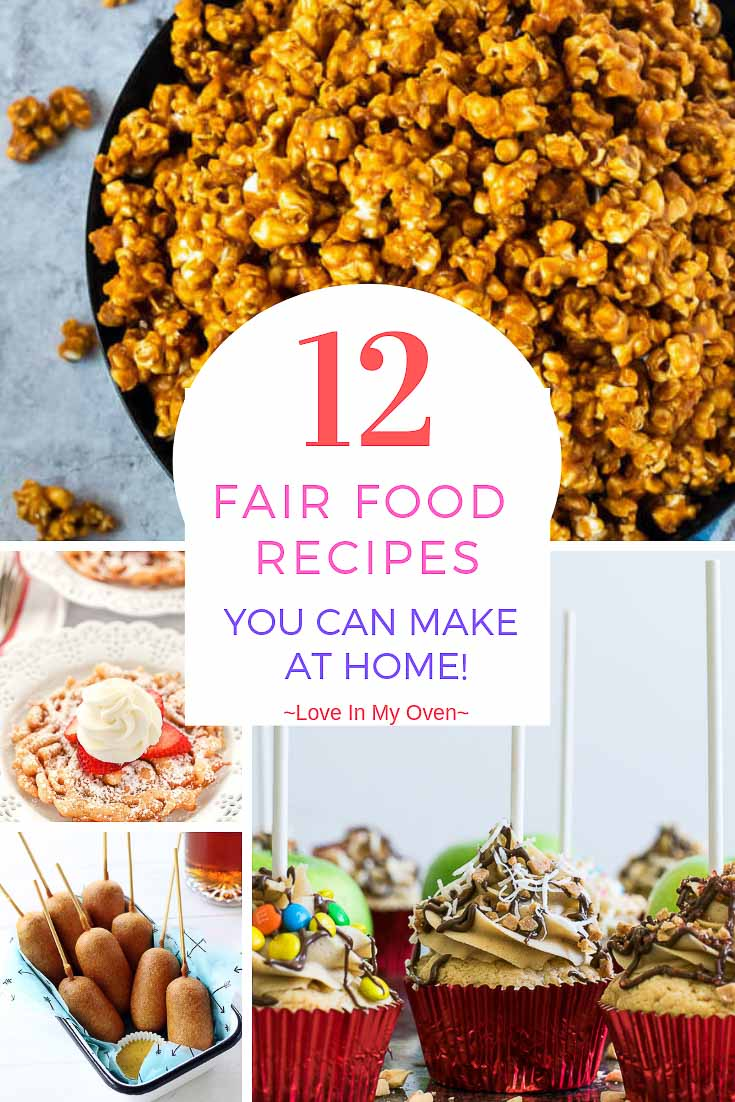 It\'s summer, and summer means carnivals, fairs, and the Calgary Stampede! Celebrate the most fun time of year with these 12 fair food recipes that you can easily make at home! //fair food recipes // carnival food ideas // carnival food recipes