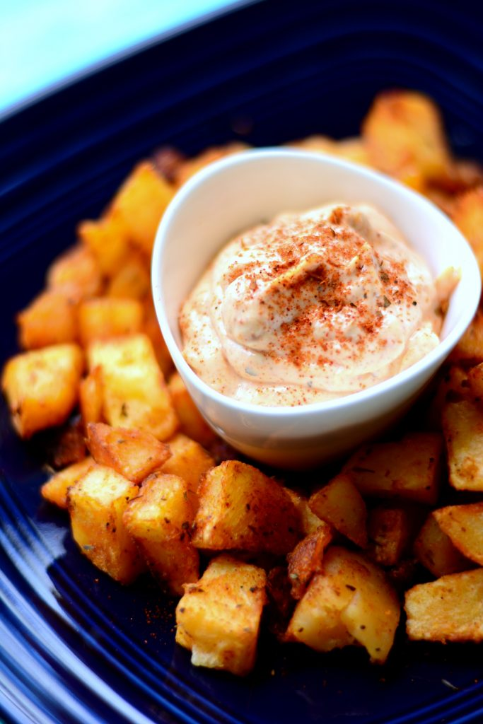 Baked Patatas Bravas Love Is In My Tummy