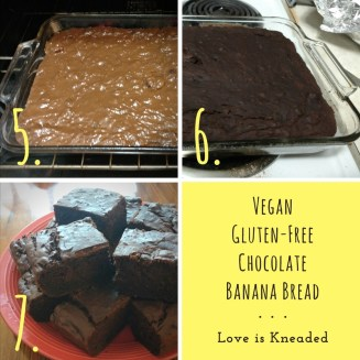 Vegan Chocolate Banana Bread Process Love is Kneaded (1)