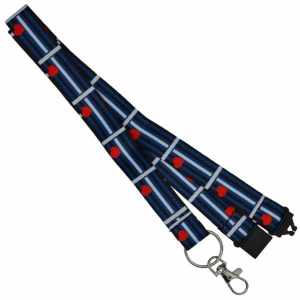 Lanyard/Schlüsselband Leather Flag
