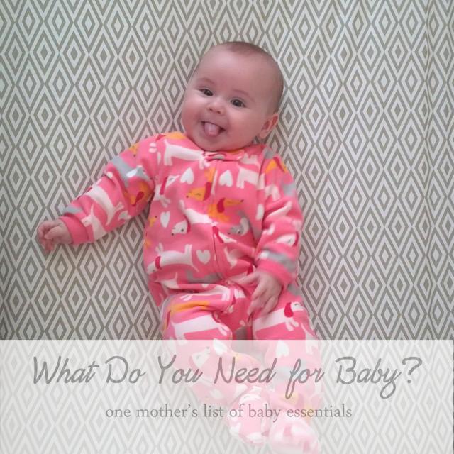My Baby Essentials: 3-6 Months