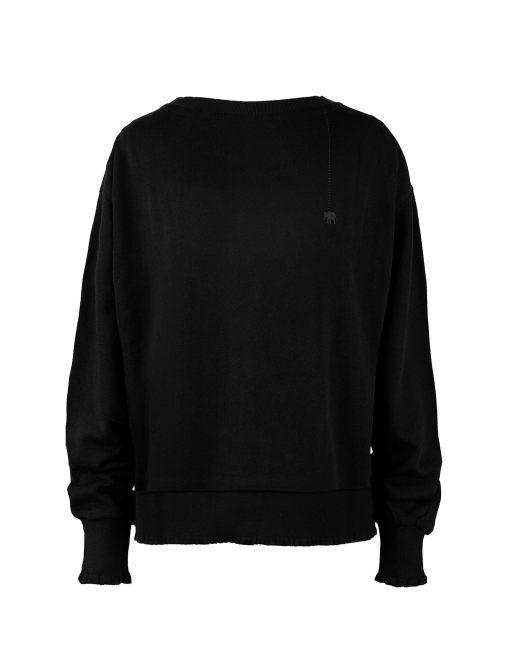 Basic Sweatshirt Rüschen Details French Terry