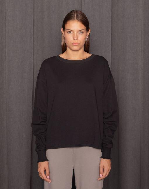 Modelbild Black Sweatshirt