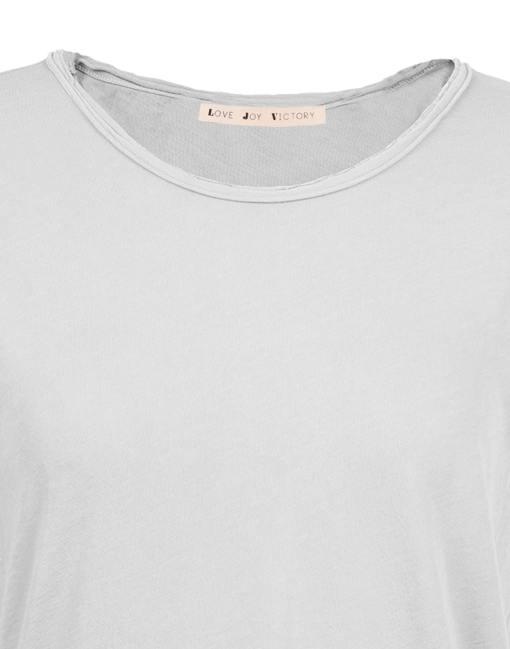 rundhals t-shirt mit offener kante
