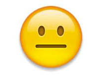 Image result for straight face emoji
