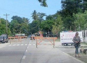 Philippine National Police checkpoint