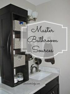 Master Bathroom: Sources