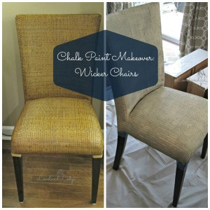 Chalk Paint Makeover: Wicker Chairs