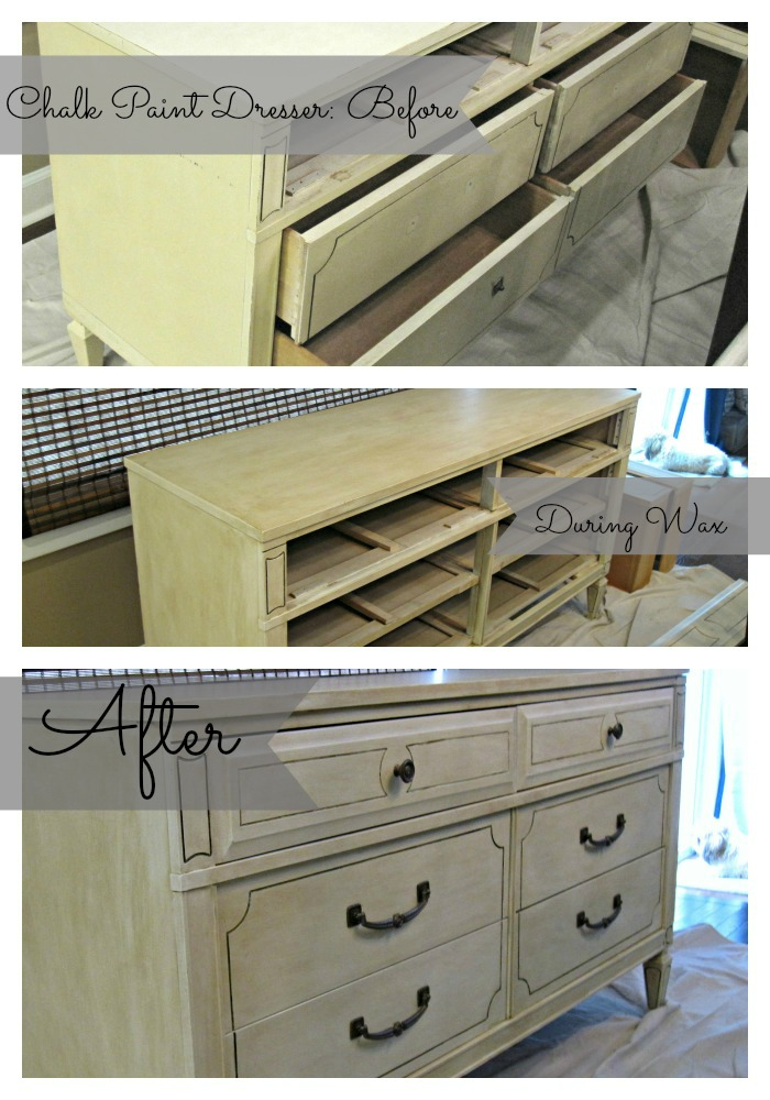 Dresser makeover with Valsspar Chalk Paint