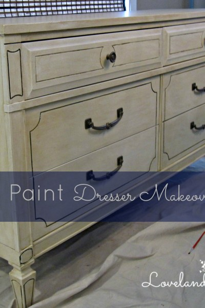 Chalk Paint Makeover: Dresser into TV Stand