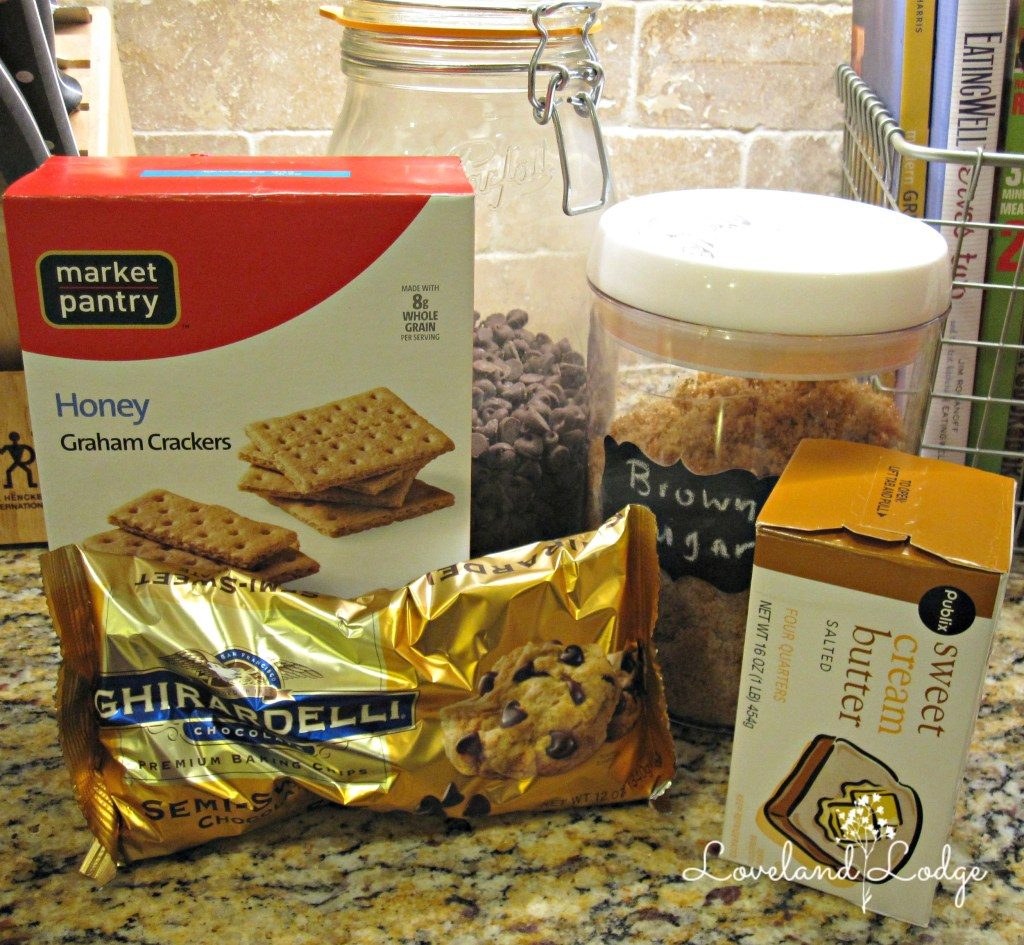 Ingredients for Toffee Bars