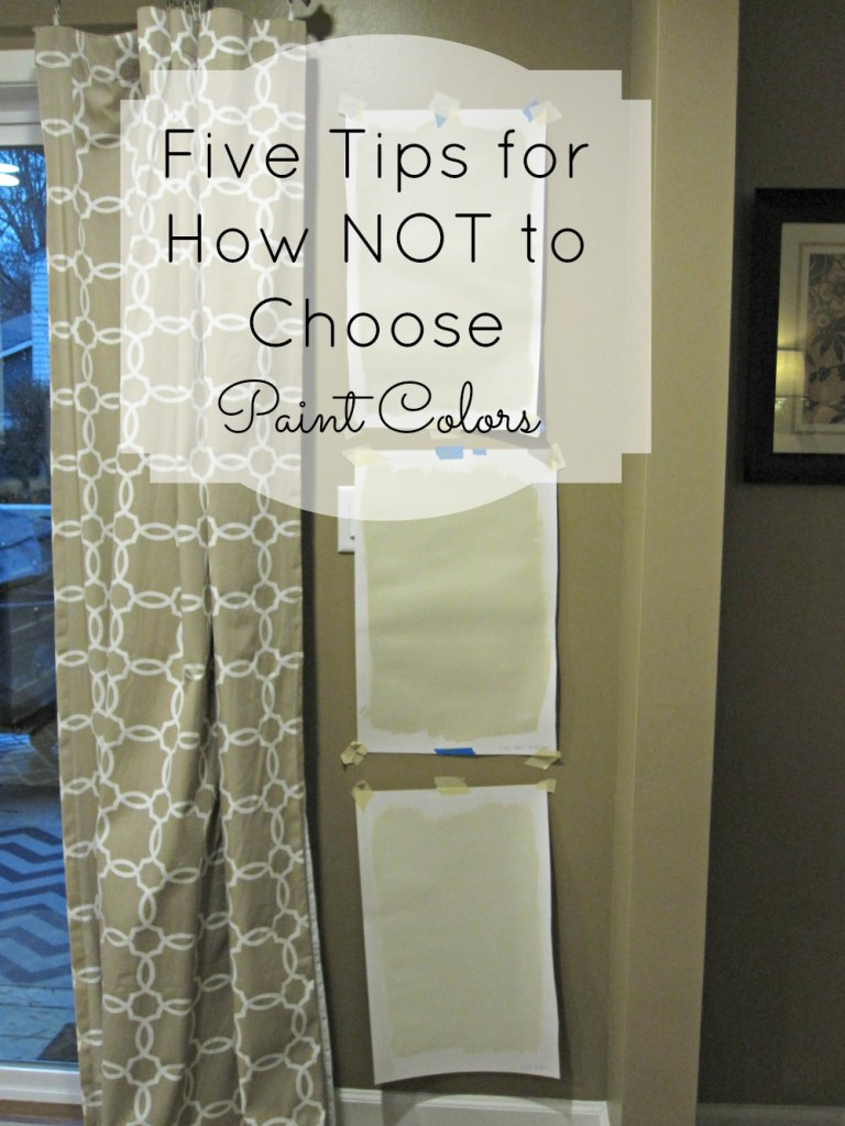 How not to choose paint colors