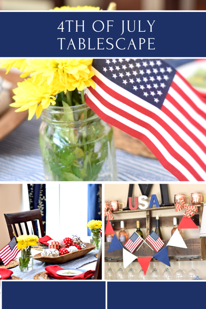 Ideas and inspiration for budget decorating for the 4th of July., using mostly items from the Target dollar spot