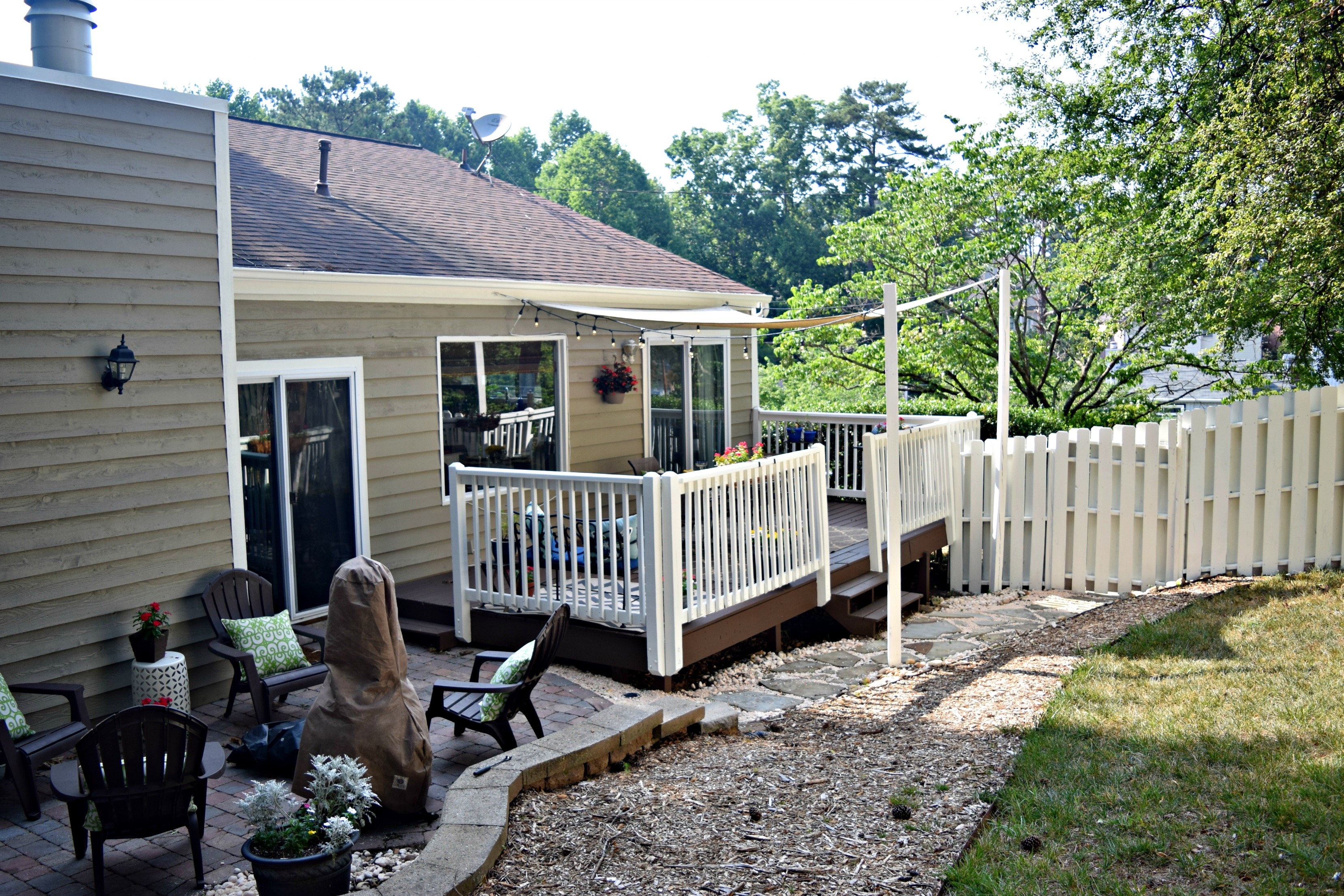 before and after back deck loveland lodge