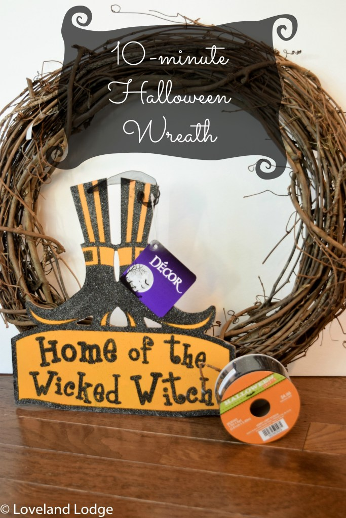 10-minute Halloween wreath