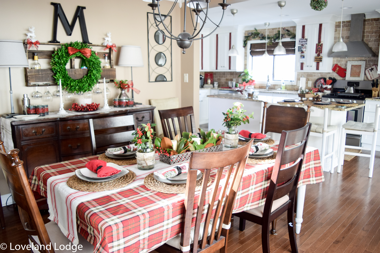 christmas home tour 2016 dining room loveland lodge christmas dining room
