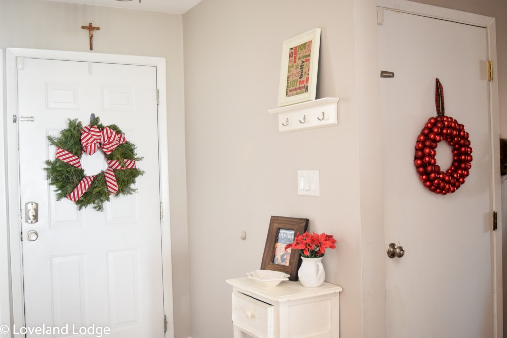 Entry way Christmas Decor