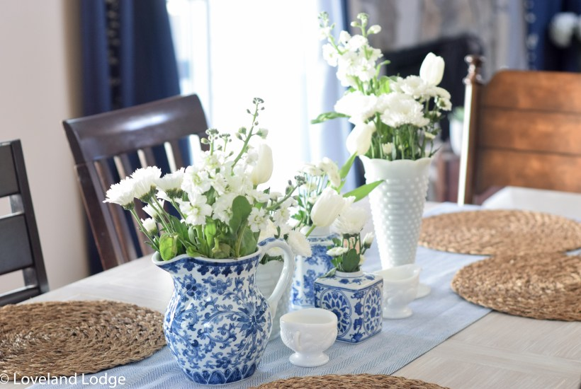 Early spring table arrangement